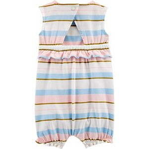 Baby Girl Carter's Striped Ruffle Jersey Romper