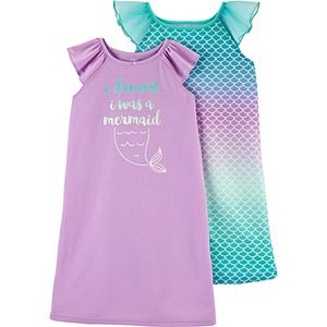 Toddler Girl Carter's 2 Pack Mermaid Nightgowns