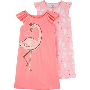 Toddler Girl Carter's 2 Pack Flamingo Nightgowns