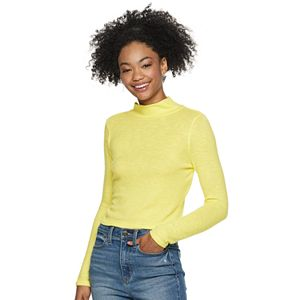 Juniors' SO Cozy Mock Neck Top
