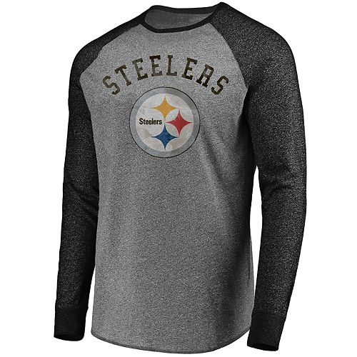 Big & Tall NFL Pittsburgh Steelers Long Sleeves Contrast Raglan Tee