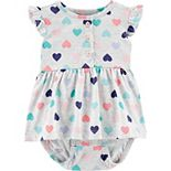 Baby Girl Carter's Heart Jersey Sunsuit