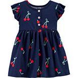 Baby Girl Carter's Cherry Jersey Dress