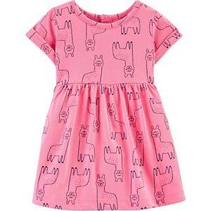 Baby Girl Carter's Llama Jersey Dress