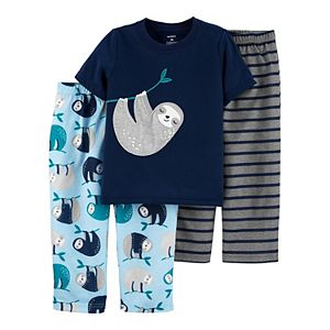 Toddler Boy Carter's 3-Piece Sloth Pajama Set