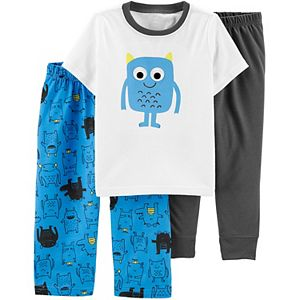 Toddler Boy Carter's 3 Piece Monster Truck Pajama Set