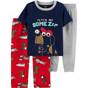 Toddler Boy Carter's 3-Piece Dog Pajama Set