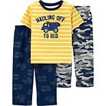 Toddler Boy Carter's 3-Piece Construction Truck Pajama Set
