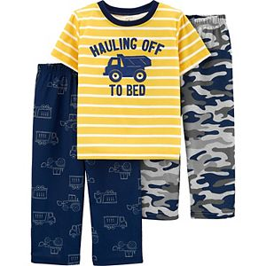 Toddler Boy Carter's 3-Piece Construction Truck Pajama Set