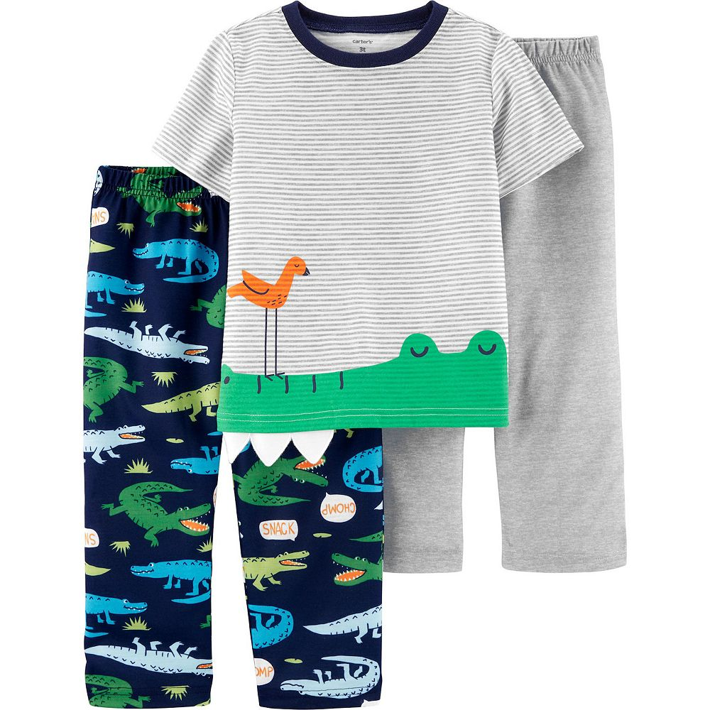 Toddler Boy Carter's 3-Piece Alligator Pajama Set