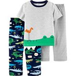 Toddler Boy Carter's 3-Piece Alligator Pajama Set