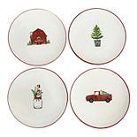 St. Nicholas Square® Farmhouse 4-pc. Appetizer Plate Set
