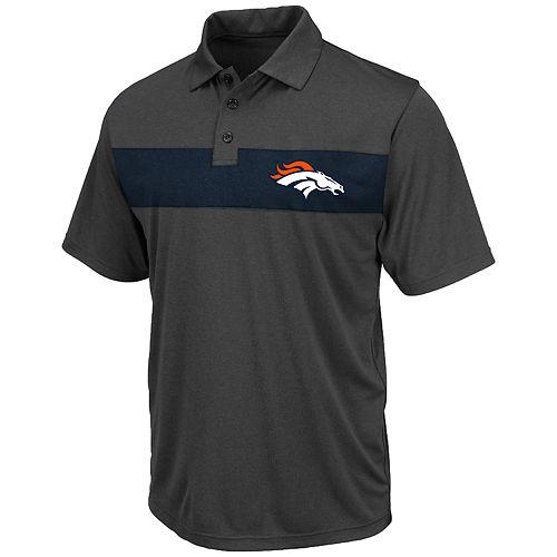 Big & Tall NFL Denver Broncos Short Sleeve Contrast Chest Stripe Polo