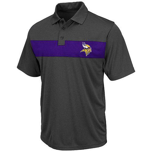 Big & Tall NFL Minnesota Vikings Short Sleeve Contrast Chest Stripe Polo