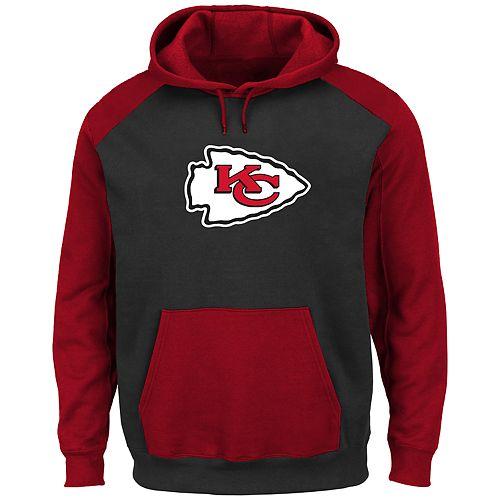 the latest 4ac48 92796 Big & Tall NFL Kansas City Chiefs Quarter Zip Logo Fleece Hoodie