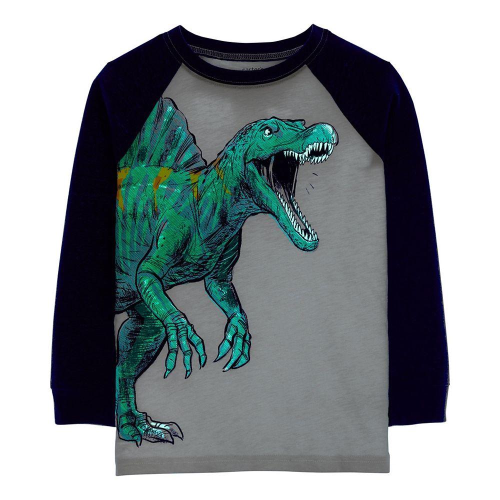 Boys 4-14 Carter's Dinosaur Raglan Graphic Tee