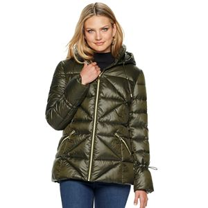 Women's Nine West Quilted Puffer Coat