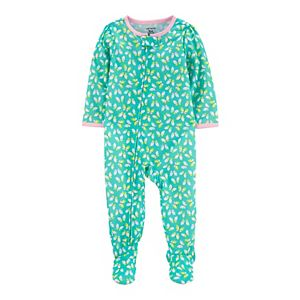 Baby Girl Carter's Butterfly Zip Footed Pajamas