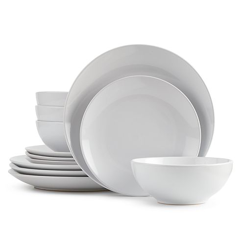 The Big One® White Coupe 12-pc. Dinnerware Set