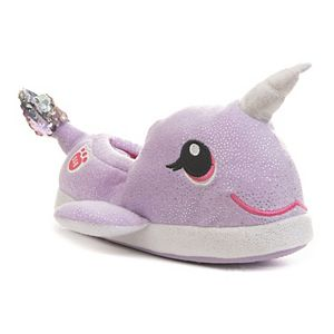 Build-A-Bear Narwhal Girls' Sequin Slippers