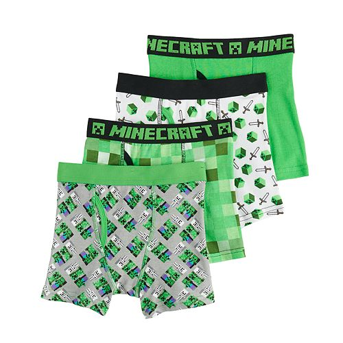 Boys 4-8 Minecraft Boxers (4 pack)