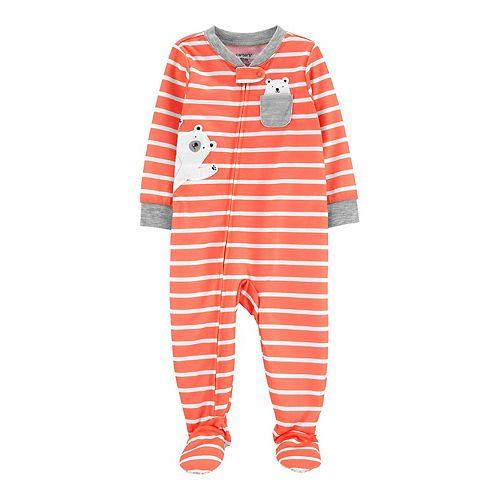 red Carters Baby Boys Arctic Bear Footed Coverall 6 months