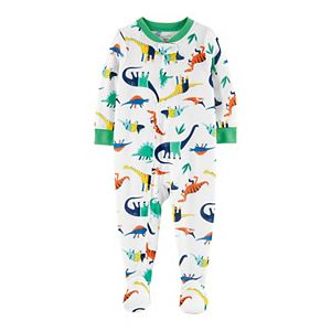 Baby Carter's Dinosaur Zip Footed Pajamas