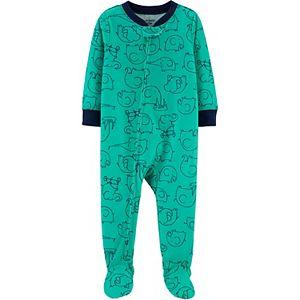 Baby Carter's Elephant Print Footed Pajamas