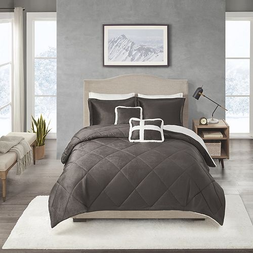 True North Mink to Sherpa Comforter Set