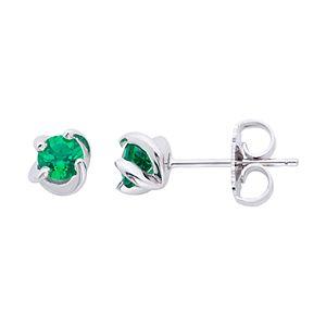 Boston Bay Diamonds Sterling Silver Birthstone Swirl Earrings