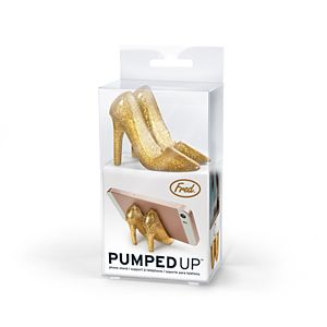 Fred Pumped Up Gold Glitter Phone Stand