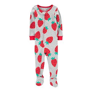 Baby Carter's Strawberry Snug Fit Cotton Footed Pajamas