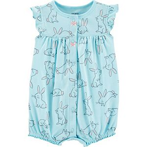 Baby Girl Carter's Bunny Snap-Up Romper