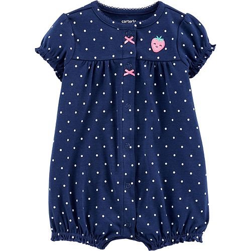 Baby Girl Carter's Strawberry Snap-Up Romper