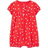 Baby Girl Carter's Heart Snap-Up Romper