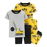 Baby Boy Carter's 4-Piece Construction Snug Fit Tops and Bottoms Cotton Pajama Set