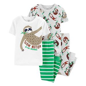 Baby Boy Carter's 4-Piece Sloth Snug Fit Cotton Pajama Set