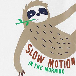 Baby Boy Carter's 4-Piece Sloth Snug Fit Cotton Pajama Set