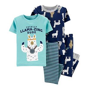 Baby Boy Carter's 4-Piece Llama Snug Fit Cotton Pajama Set