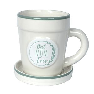 "New View Gifts ""Best Mom Ever"" Planter Mug"