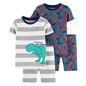 Baby Carter's 4 Piece Dinosaur Striped Bananas Pajama Set