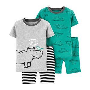 Baby Carter's 4 Piece Hippos Pajama Set