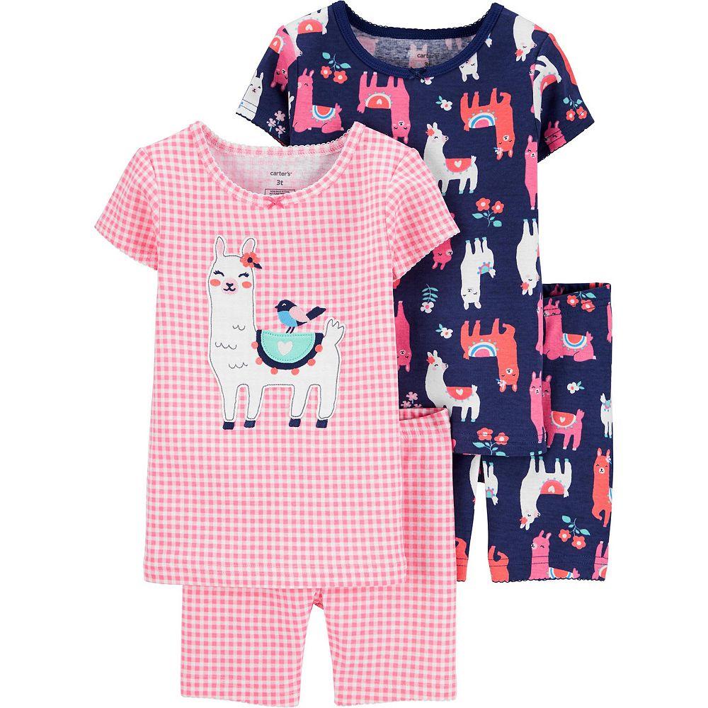 Baby Girl Carter's 4 Piece Llamas Pajama Set