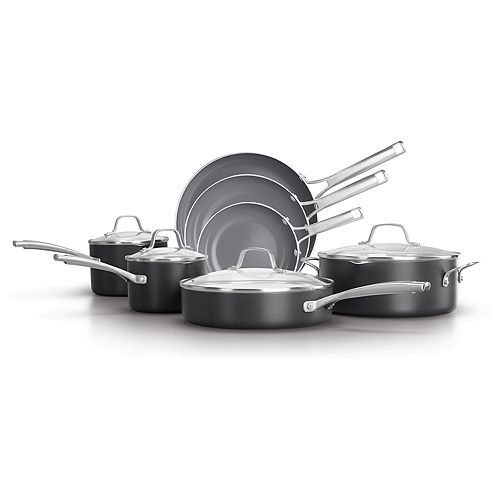 Calphalon Classic 11-pc. Oil-Infused Ceramic Cookware Set