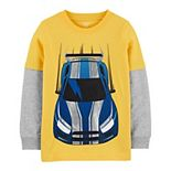 Boys 4-14 Carter's Race Car Mock Layered Graphic Tee