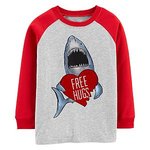Boys 4-14 Carter's Shark Valentine's Day Raglan Graphic Tee