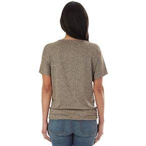 Petite Apt. 9® Banded Hem Embellished Scoopneck Top