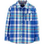 Boys 4-12 OshKosh B'gosh® Plaid Button-Front Shirt