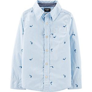 Boys 4-12 OshKosh B'gosh® Whale Button-Front Shirt
