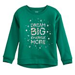 Girls 4-12 Jumping Beans® Holiday Fleece Sweatshirt